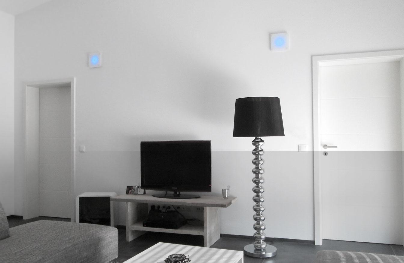 Bringen Sie Farbe in ihre vier Wände: Luftauslässe mit wechselbarer LED-Beleuchtung